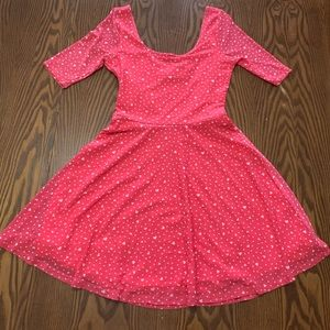 Abercombie little hearts polka dot dress size L